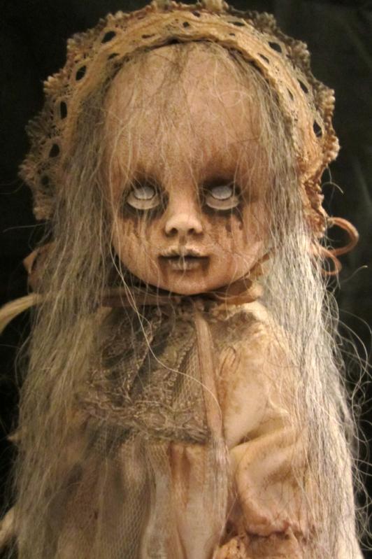 Dolls & Bears Creepy Doll Custom Handmade Spooky Scary Halloween Goth Horror Statue Dolls