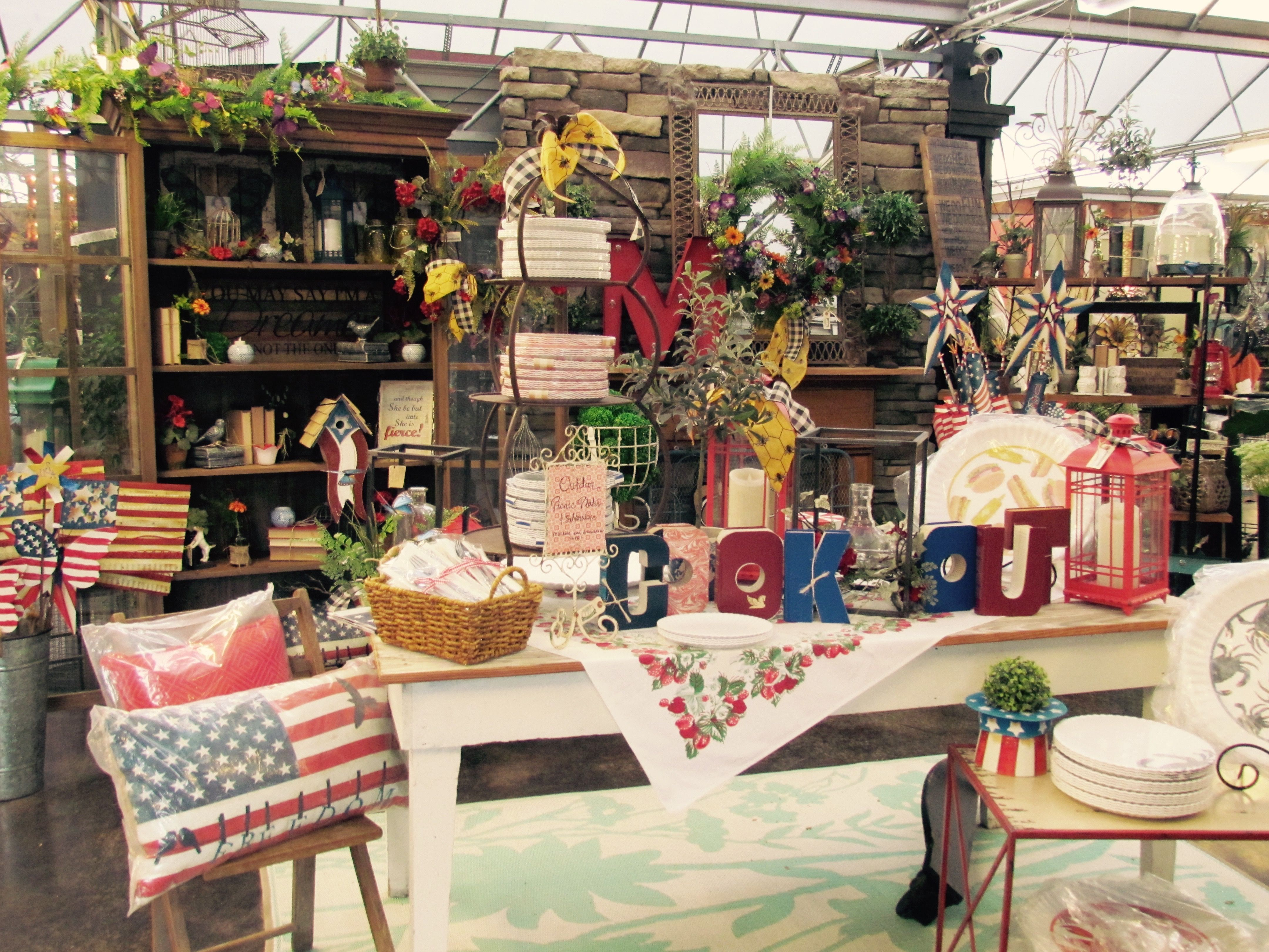 American Flags And Picnic Decor Calls For A Great Memorial Day