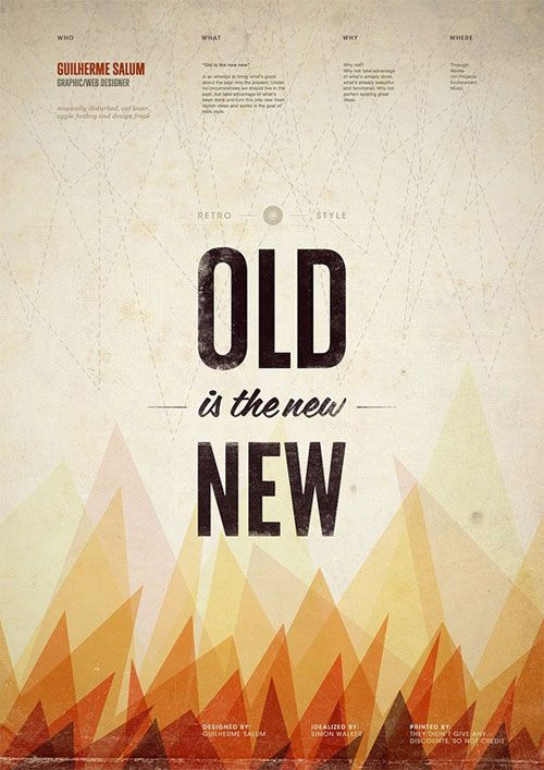 "Vintage Poster Design - ""Old is the New"""