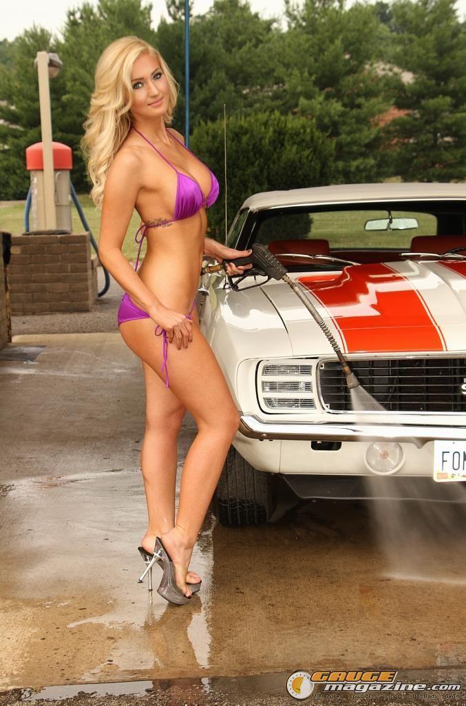 hot naked girl by camaro