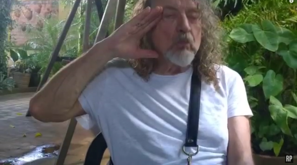 Robert Plant in a still photo taken from his new South American tour video...