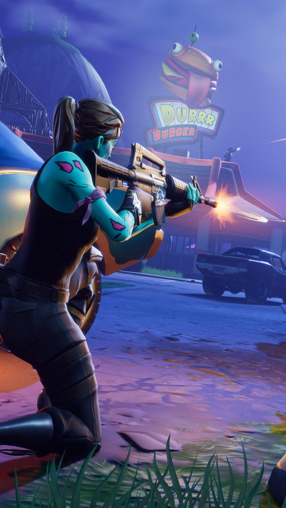 Fortnite Battle Royale Female Player Firing 4k Ultra Hd Mobile Wallpaper Fortnite Best Gaming Wallpapers Mobile Wallpaper