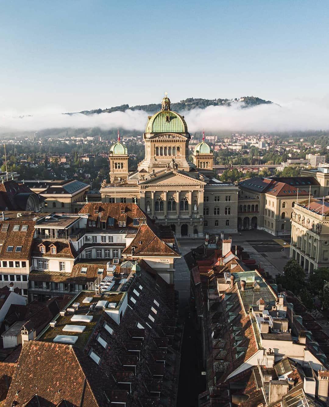 Bundeshaus Bern Schweiz City Castle In The Sky Paris Skyline