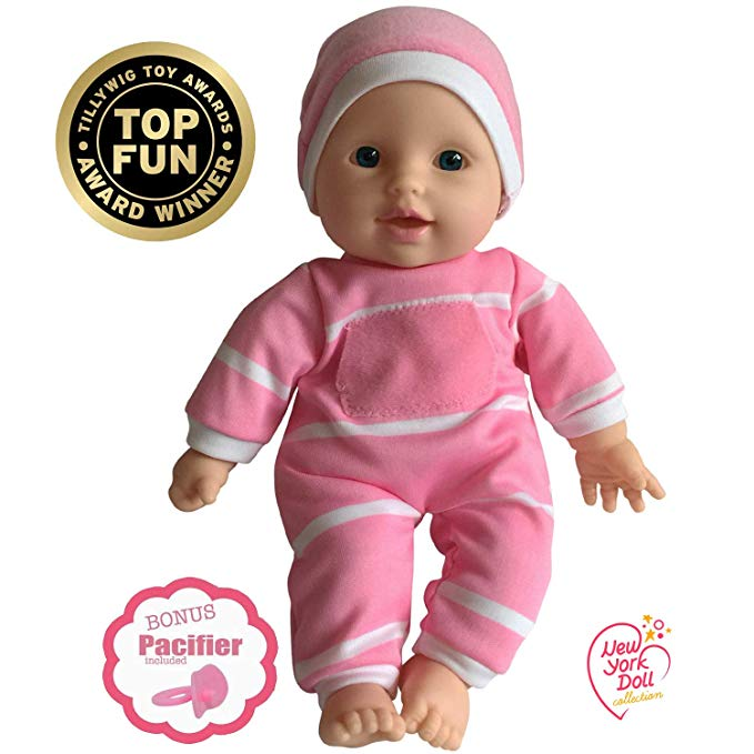 Amazon Com 11 Inch Soft Body Doll In Gift Box Award Winner Toy 11 Baby Doll Caucasian Toys Games Baby Alive Doll Clothes Baby Dolls Baby Dolls For Toddlers