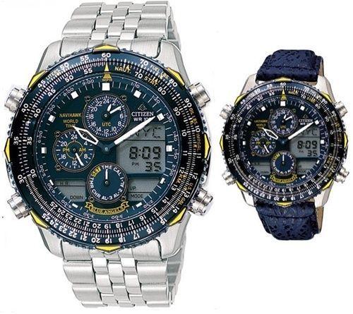 ca4060d2118 Citizen Promaster Navihawk Blue Angels Pilots Watch JN0040-58L + Leather  Band  Citizen  LuxurySportStyles
