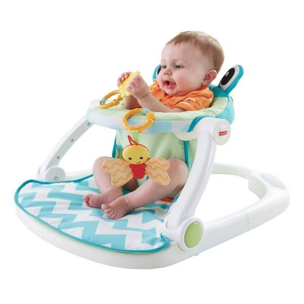 Product Image For Fisher Price Deluxe Sit Me Up Frog Floor Seat