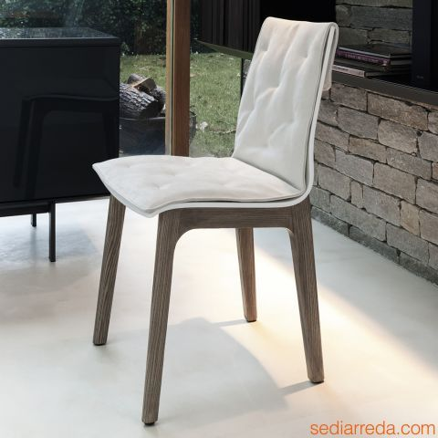 Sedie In Legno Laccate Bianco.Bontempi Casa Alfa Wood Soft In 2020 Dining Chairs Chair