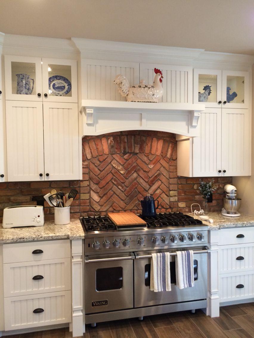 My Beadboard & Brick Kitchen | Brick kitchen, Home ...