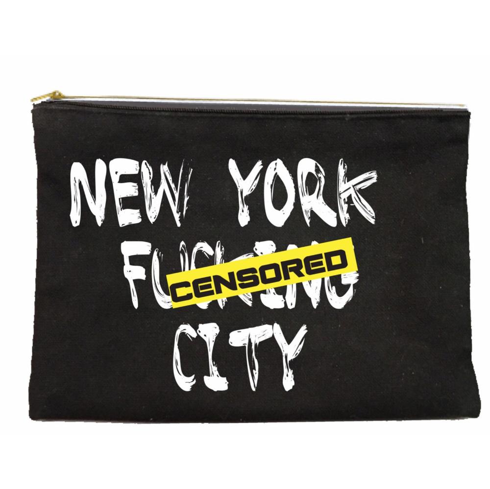 New York Effing City Makeup Pouch Etsy Makeup Pouch Pouch Canvas Makeup Bag