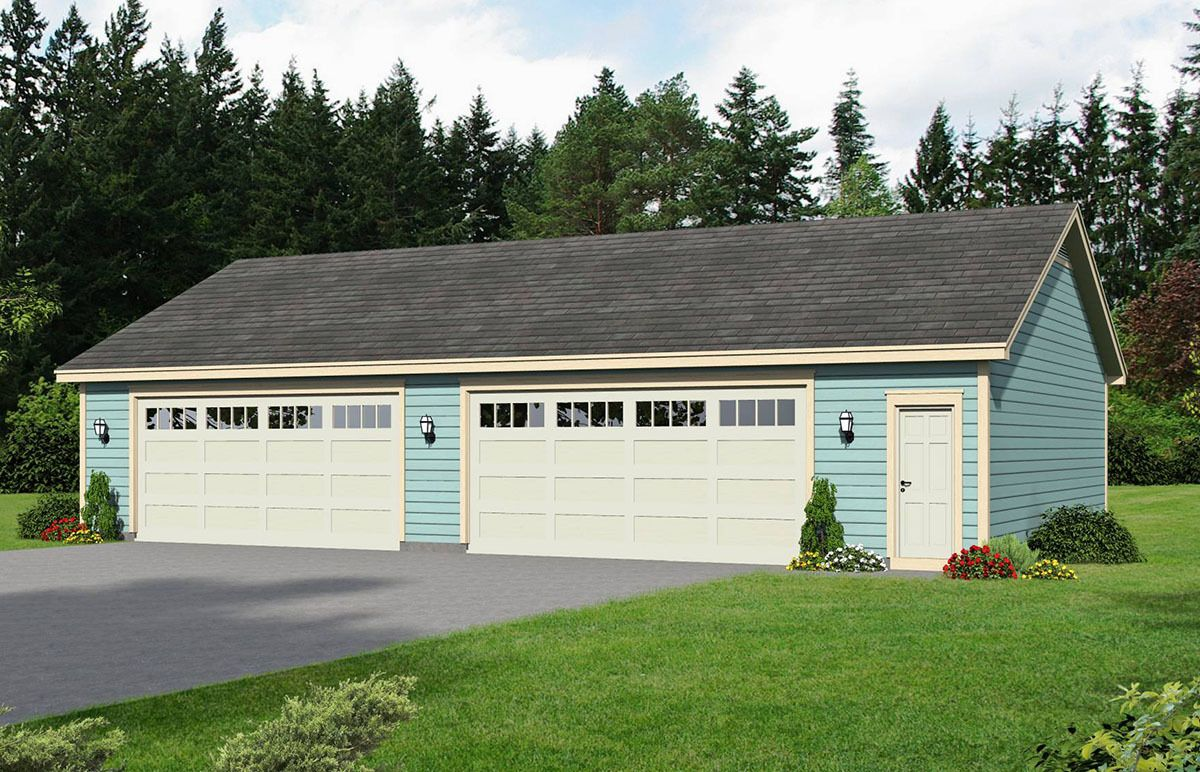 Plan 68450VR 4 Car Detached Garage with Workshop Space – Detached Garage Workshop Plans