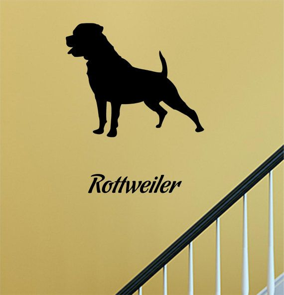 SlapArt Rottweiler Dog Silhouette Wall Art by VinylMasterpieces ...