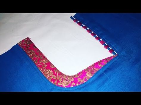 2cad1694223 Kameez Front Neck Design cutting and stitching - YouTube