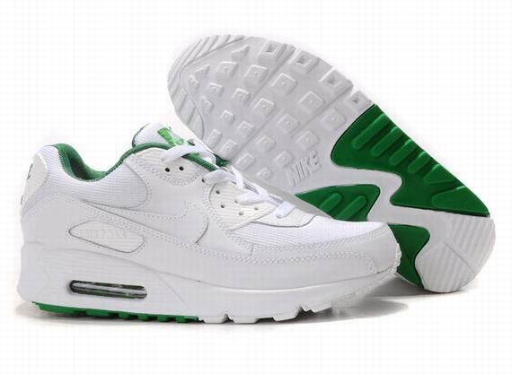 buy popular bfe8c 54d68 Now Buy Nike Air Max 90 Womens White Green Online Save Up From Outlet Store  at Footlocker.