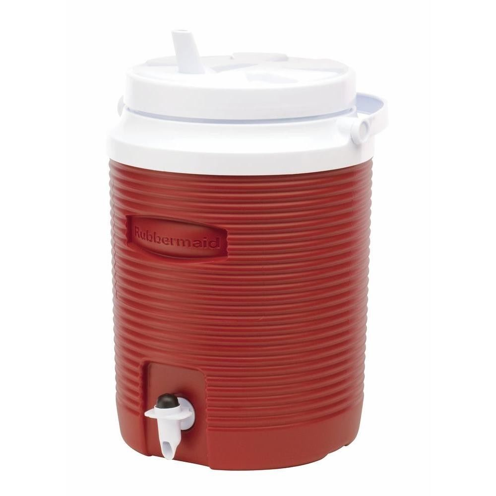 Ice Water Cooler Jug 2 Gallon Large Thermos Insulated Outdoor Camping Sport Red Rubbermaid Rubbermaid Water Coolers Cooler