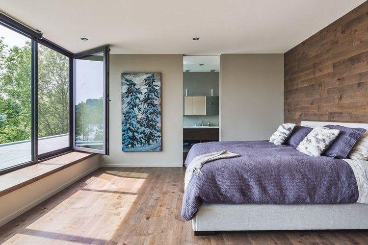 Minimalistisches Schlafzimmer Design Mit Holz Fur Boden Wand Und