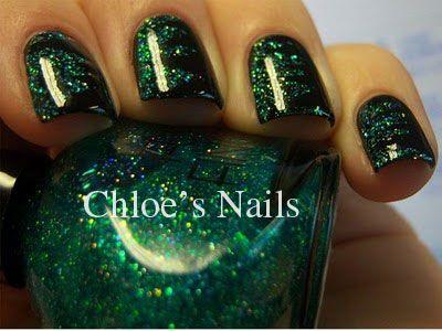 Chloes Nails Green Shred Black Shredded Nail Art Manicure Tutorial - Chloes Nails Green Shred Black Shredded Nail Art Manicure Tutorial
