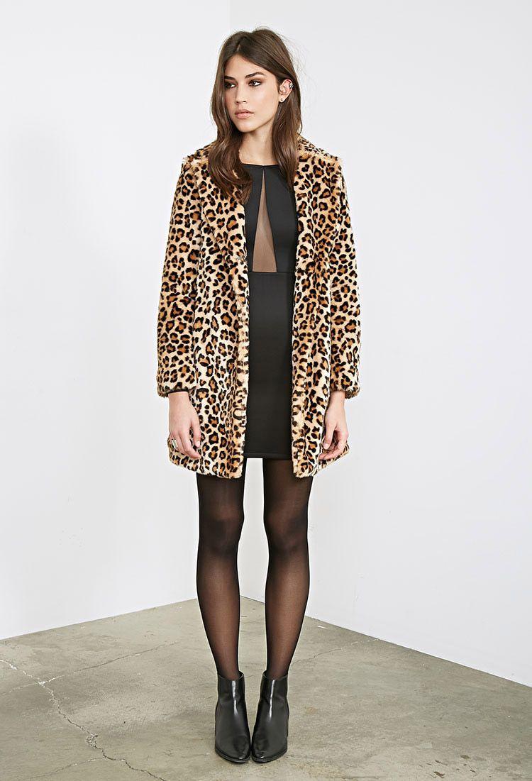 a4b1e27aab8b Leopard Print Faux Fur Coat