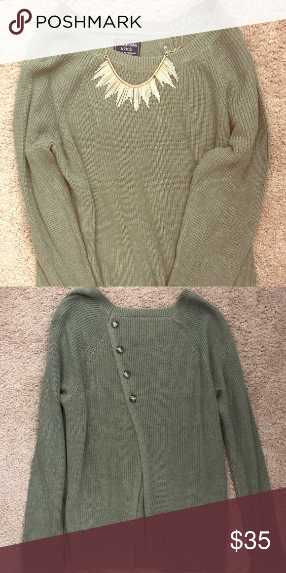 c28e2643b5 Abercrombie and Fitch button back sweater. Soft and comfy cozy Abercrombie  and Fitch button back sweater. Asymmetrical button detail in the back with  a bit ...