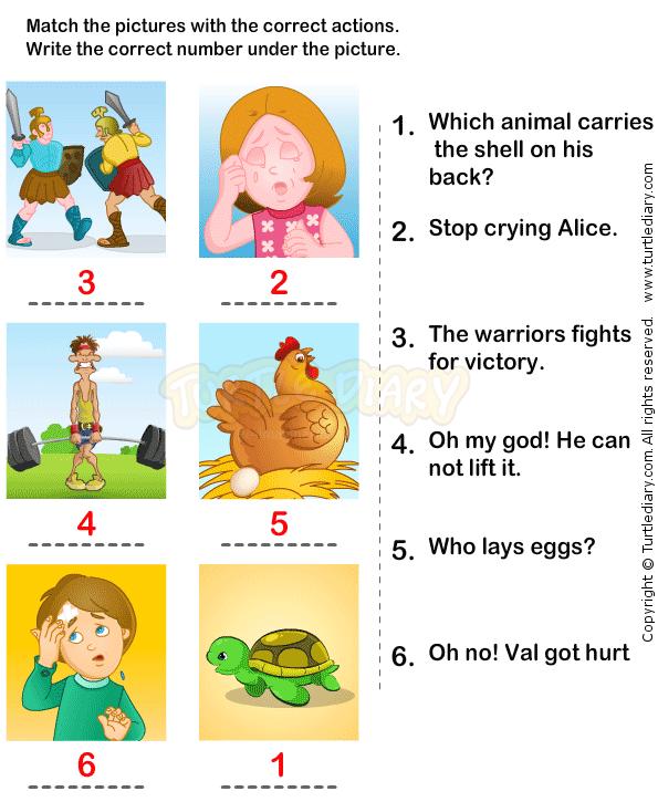 Action Verbs Worksheets 12 - esl-efl Worksheets ...
