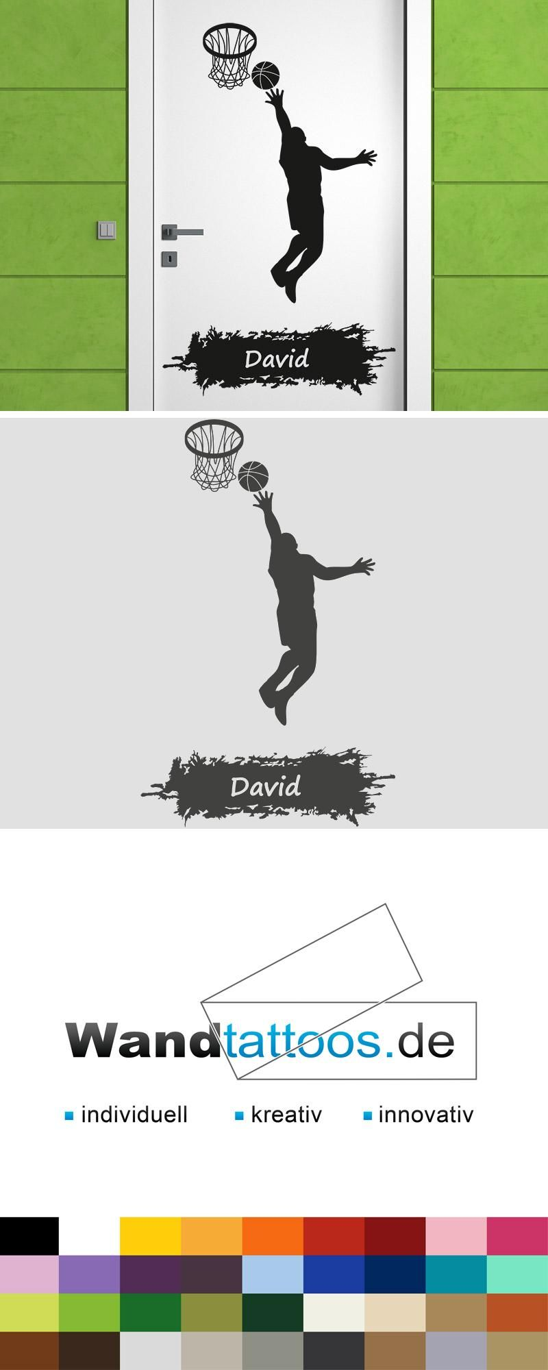 Amüsant Wandtattoo Basketball Galerie Von
