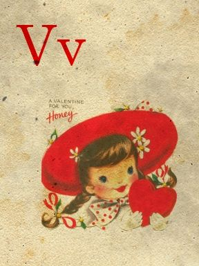 Mini Vintage Alphabet Cards From Sweetly Scrappedv Valentine Scrapped