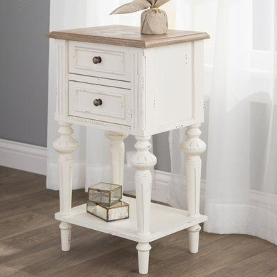 Laurel Foundry Modern Farmhouse Saire Indoor 2 Drawer End Table Wayfair End Tables Furniture Sofa Table With Drawers