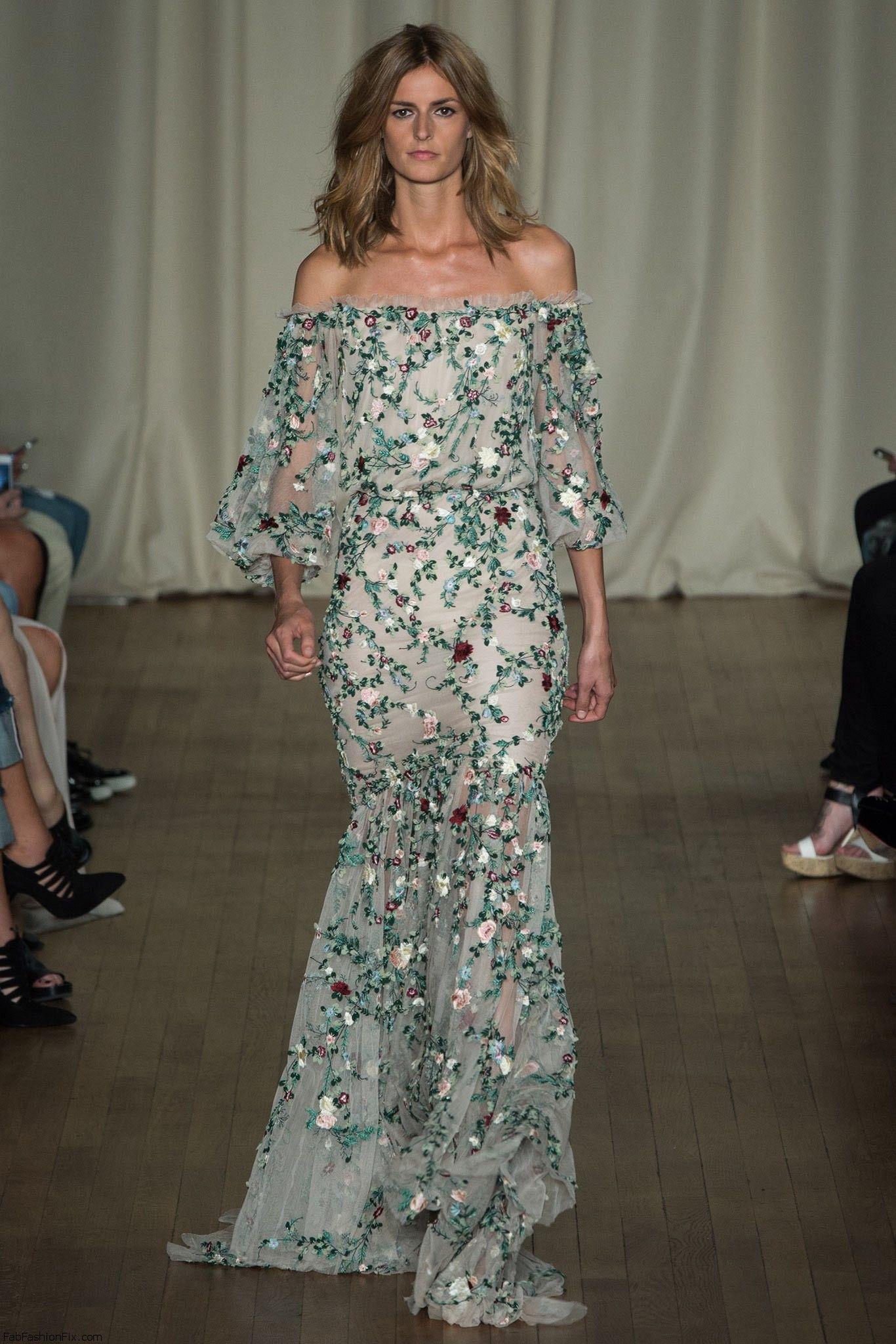 Marchesa spring/summer 2015 collection - London fashion week