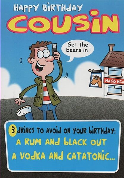 a4363jpg 418 600 Cousins Pinterest – Funny Birthday Cards for Cousins