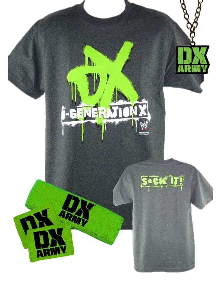 WWE Mattel Elite 4 Custom D Generation X Jerseys for Wrestling Figure WWF DX WCW