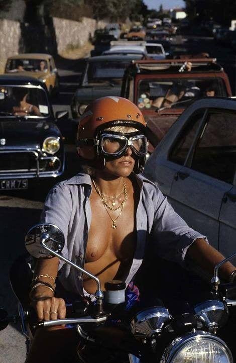 Image result for girl on dirt bike 70's
