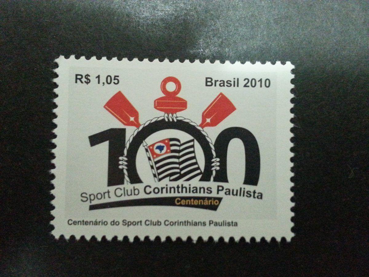 selo brasil - 100º corinthians/2010 - (rhm c.3027)