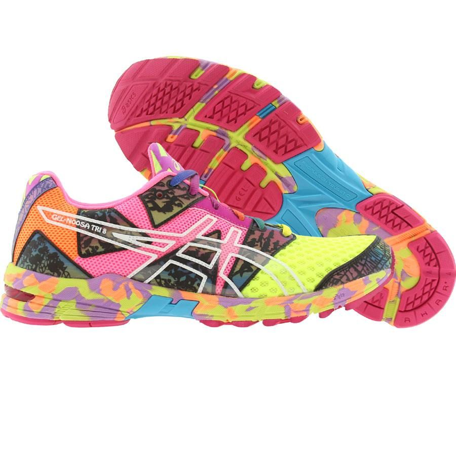 asics gel noosa tri 8 flash yellow/flash pink