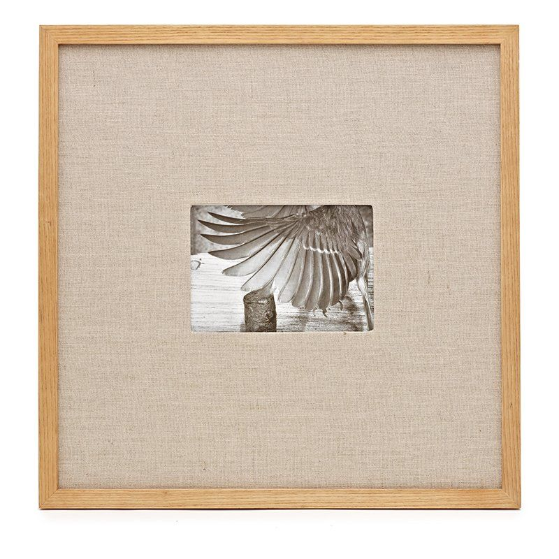 Ash Wood and Linen Picture Frame 17x17 - 5x7 opening: Indigo ...
