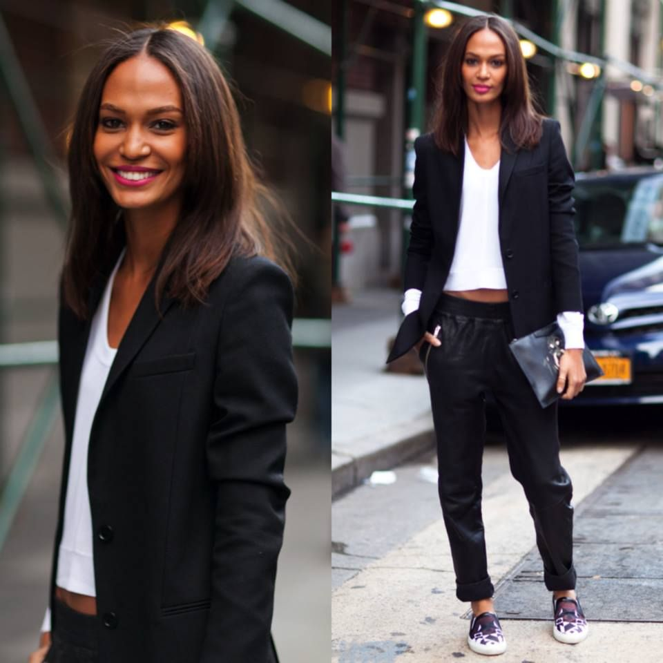 Looove Joan Smalls's style and makeup