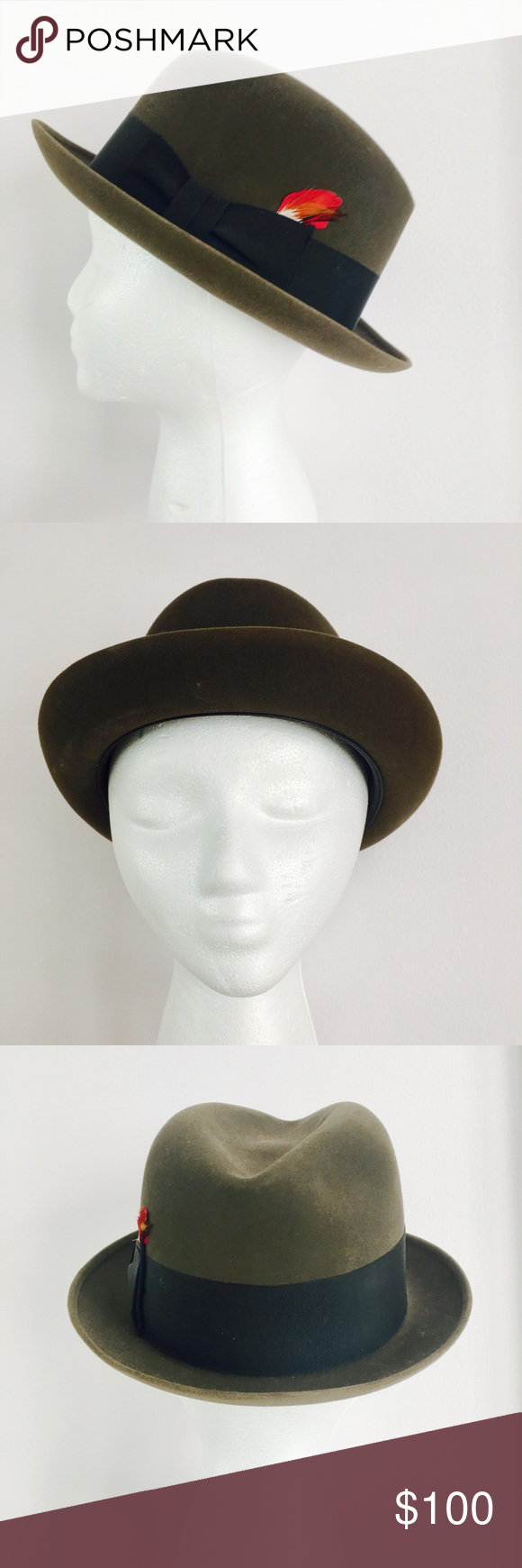747108770606f Vintage 1960s Dobbs Fifth Avenue Men s Fedora Hat Vintage 1960s handsome  mens fedora style hat from Dobbs of Fifth Avenue. Will come with the  original Dobbs ...