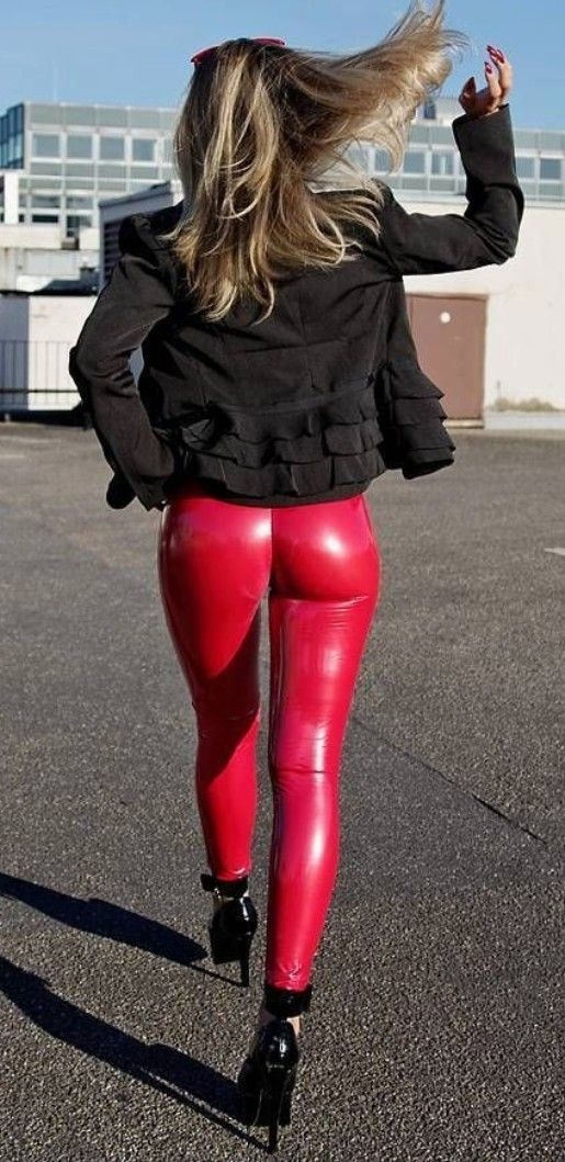differently buy good best price Red faux Leather Leggings Sculpture   #red.leather ...