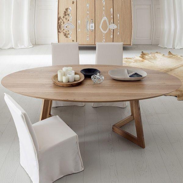 Table Design Ovale En Bois Massif Toledo Seven Salle A Manger Table Ovale Table Salle A Manger Table Design
