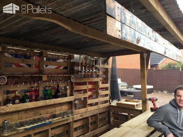 Making The Ultimate Garden Bar Using Pallets Caramelooo