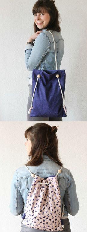 Tutorial de bricolaje • ¿Mochila o bolso? Tanto! • Hilo marinero – hecho a mano