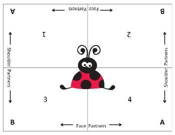 Cooperative Learning Mats Ladybug Theme Seven Cooperative