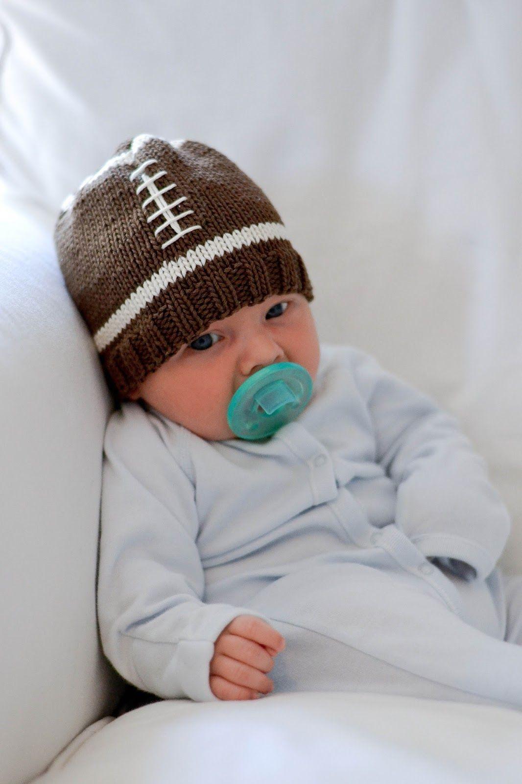 Football baby hat pattern | little + lovely | Pinterest | Stricken