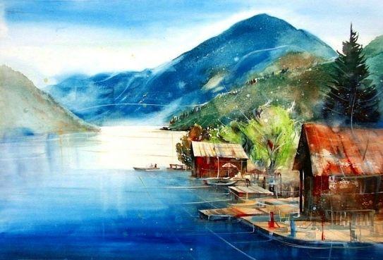 Neue Bilder Ii Heinz Schweizer Aquarelle Landschaften Aquarell Ozean Bildender Kunstler