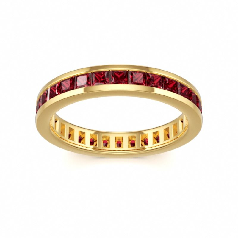 Ruby Eternity Ring #gold #band