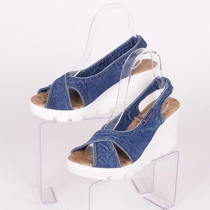 Разкошни дамски обувки с висока бяла платформа - 2,5 см ...