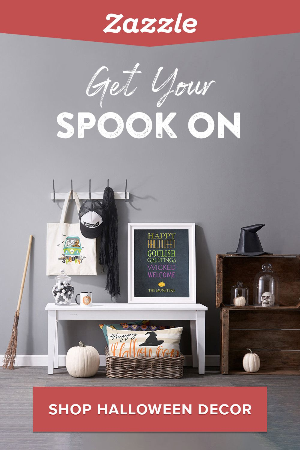 Get your spook on! Refresh your home decor with Halloween pillows, canvas prints, candles, mugs and more. Choose from hundreds of designs or create your own.