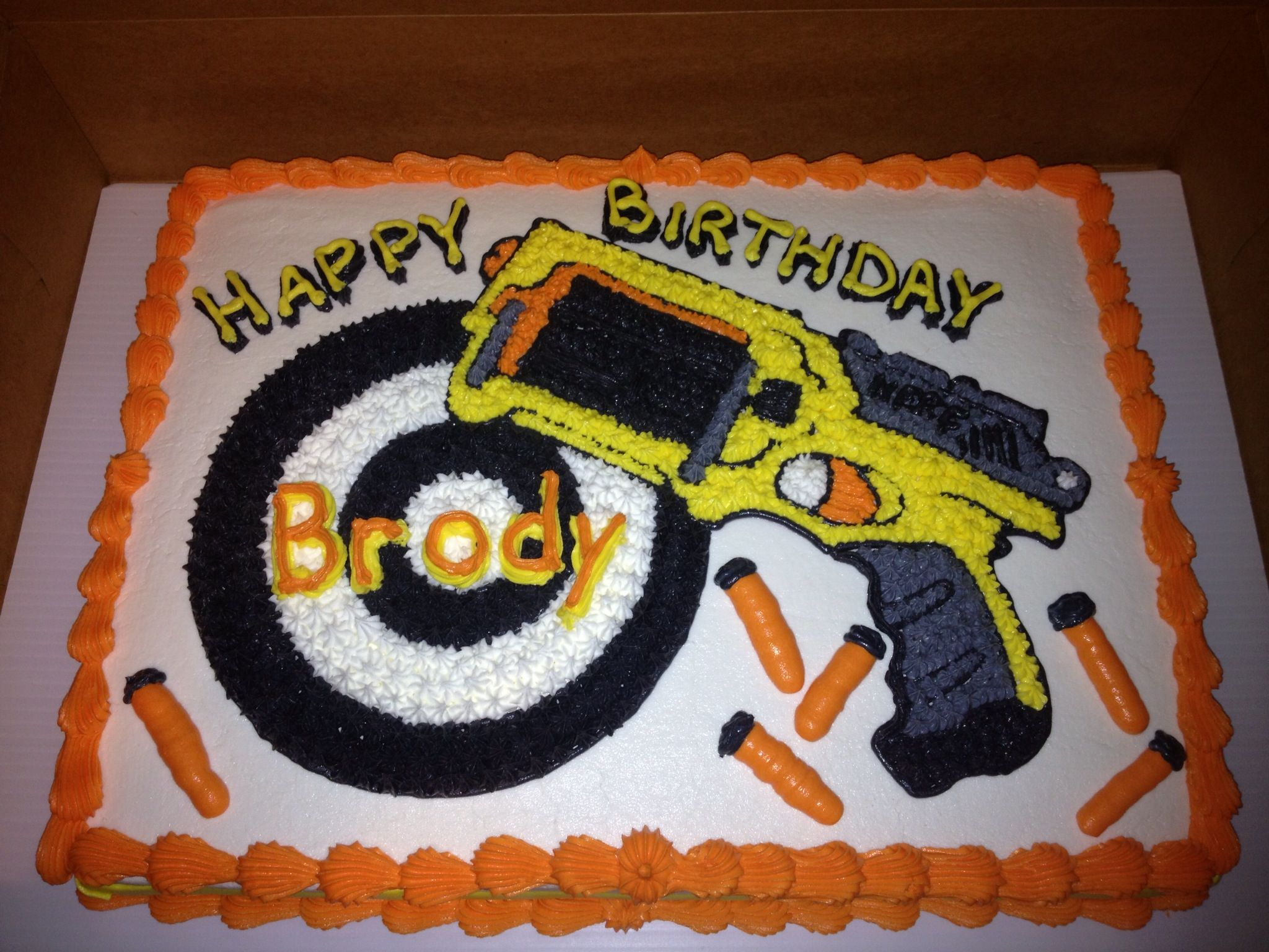 Nerf Gun Birthday Cake Party Pinterest
