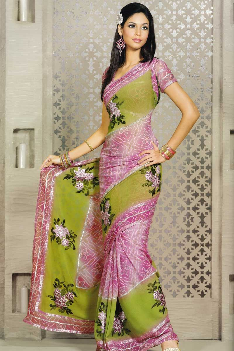 Printed sareeindian saree saree green pinterest indian