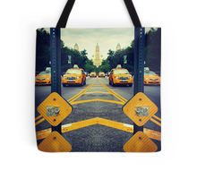 Land of The Taxi  Tote Bag #dressedNYC #redbubble