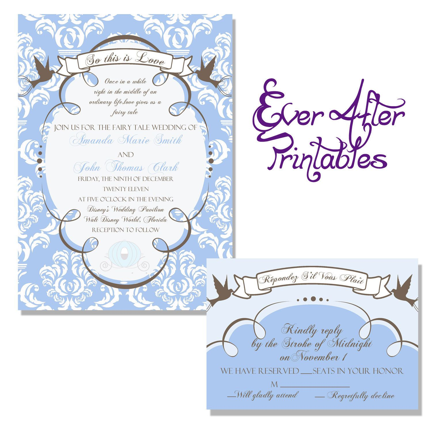 Disney Wedding Invitation: Also Love This Disney Invitation! Disney's Cinderella
