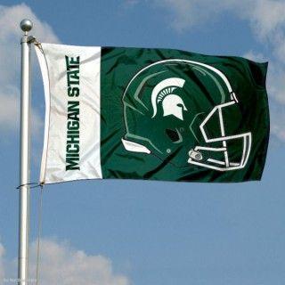 Msu Spartans Football Flag Msu Spartans Football Flag Football Pennant